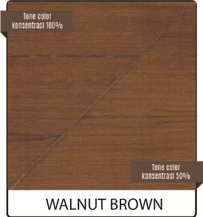 pernis kayu biovarnish warna walnut brown
