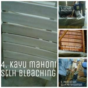 proses bleaching sebelum finishing kayu mahoni