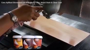 finishing untuk jati belanda menggunakan cat kayu water based biovarnish