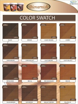 katalog warna biovarnish wood stain
