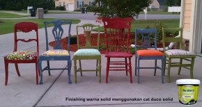 finishing furniture kayu warna solid menggunakan cat duco solid biocolours
