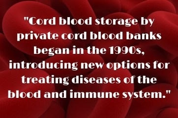 When Did Cord Blood Banking Start (1)