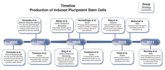 Timeline of Key iPSC Events