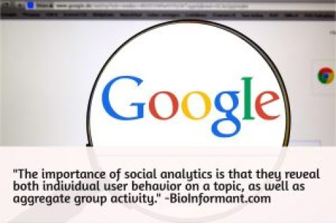 The importance of social analytics is they reveal individual user behavior on a topic, as well as aggregate group behavior.