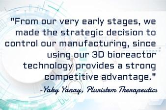 Pluristem 3D Bioreactor Manufacturing