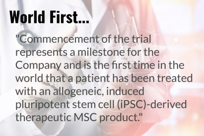 Cynata iPSC-derived MSCs