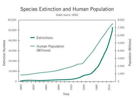 Species Extinction and Human Population Growth