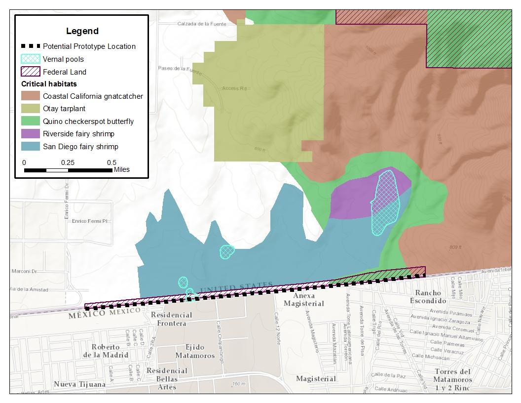 Prototype location map