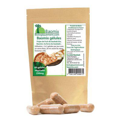 Gélules de poudre de baobab bio
