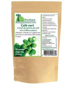 Gélules végétales de café vert bio