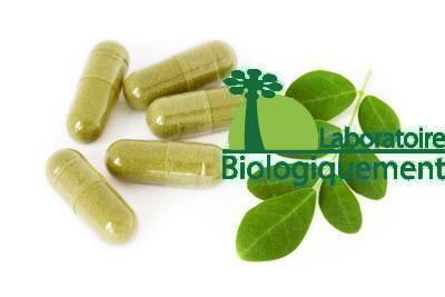 Gélules de poudre de Moringa bio Biologiquement