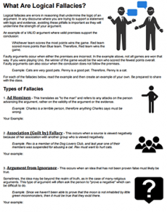What Are Logical Fallacies