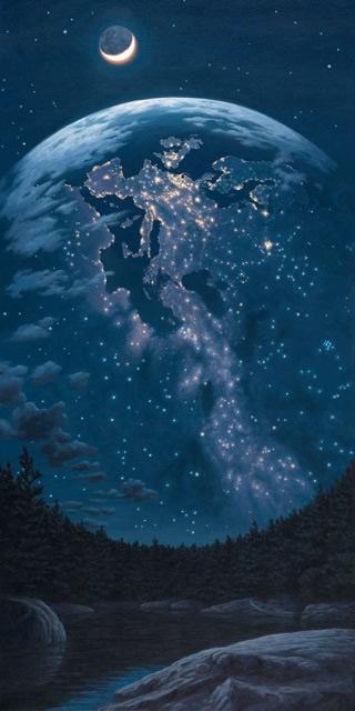 """Rob Gonsalves, """"Night Lights"""""""