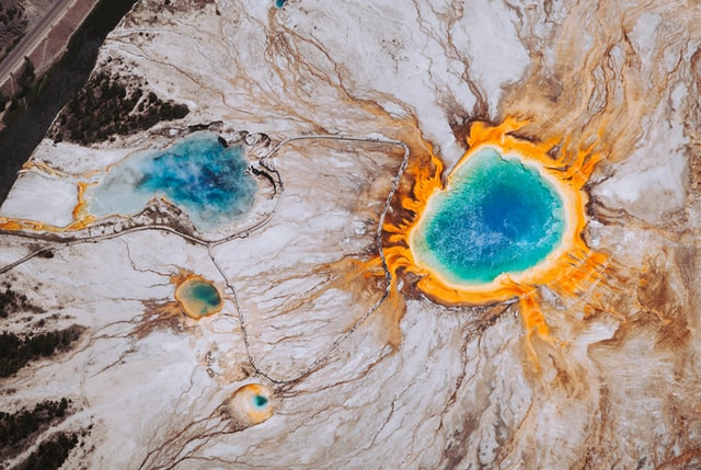 Yellowstone hot springs where thermicus aquaticus - the bacteria that produces Taq polyermase, the enzyme used in polymerase chain reaction (PCR) - was first isolated.