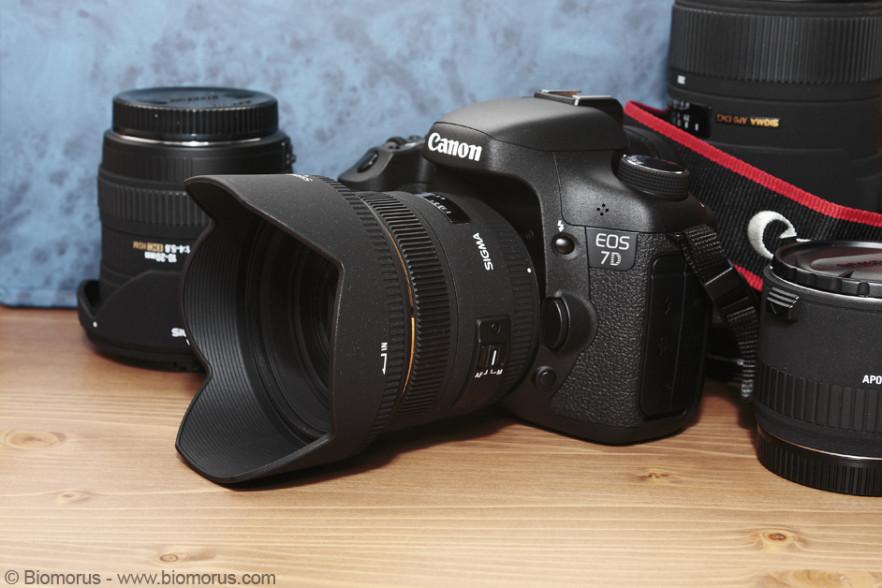 Il Sigma 50 montato sulla mia nuova EOS 7D.
