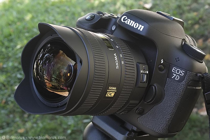 Il Sigma 8-16 montato sulla mia EOS 7D.