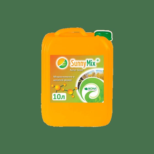 Мікродобриво у розчиненій формі Sunny Mix «Бор» 10,4% для усунення дефіциту бору для цукрових буряків, кукурудзи, овочевих та інших культур.