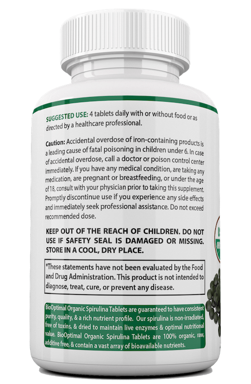 BioOptimal Spirulina Suggested Use