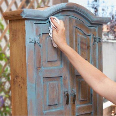 merawat furniture finishing patina