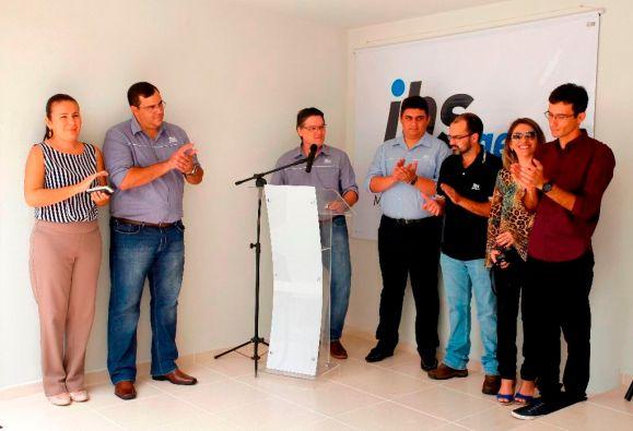 O diretor do IBS, Luís Henrichsen, durante discurso na inauguração em setembro de 2015. Foto: Moraes Neto/Sebrae RN
