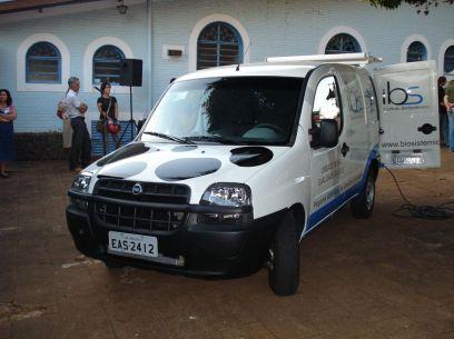 Primeira unidade Vaca Móvel lançada em junho de 2008.