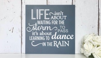 Life isn't waiting for the storm to pass it is learning to dance in the rain