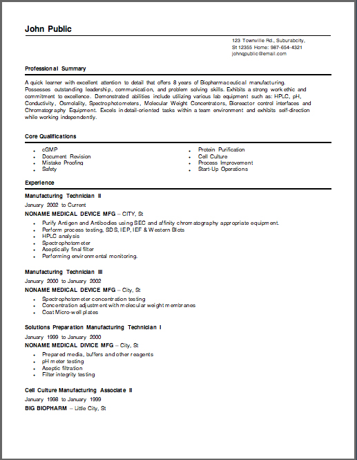 Biotech Resume Sample ...  Biotech Resume Sample