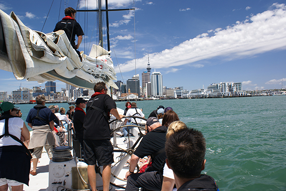 America's Cup sailboat tour, Auckland Harbour