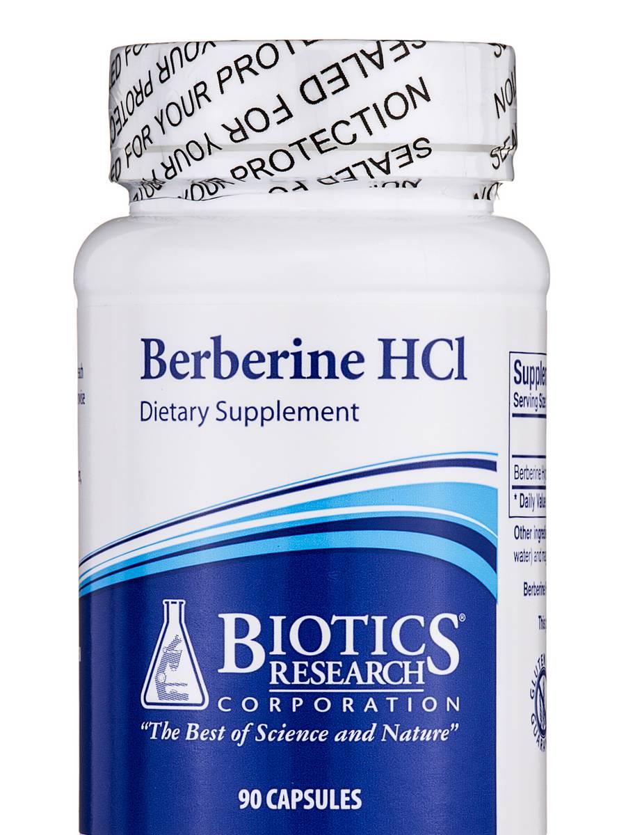 Berberine HCl - 90 Capsules - Biotype Nutrients