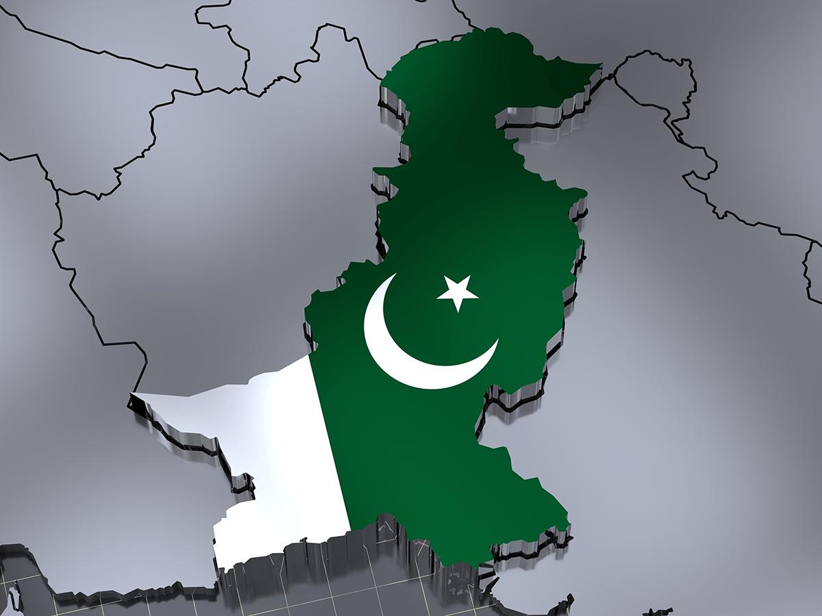 Pakistan flag-map