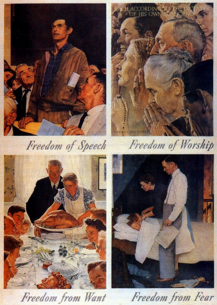 Image result for norman rockwell freedom from