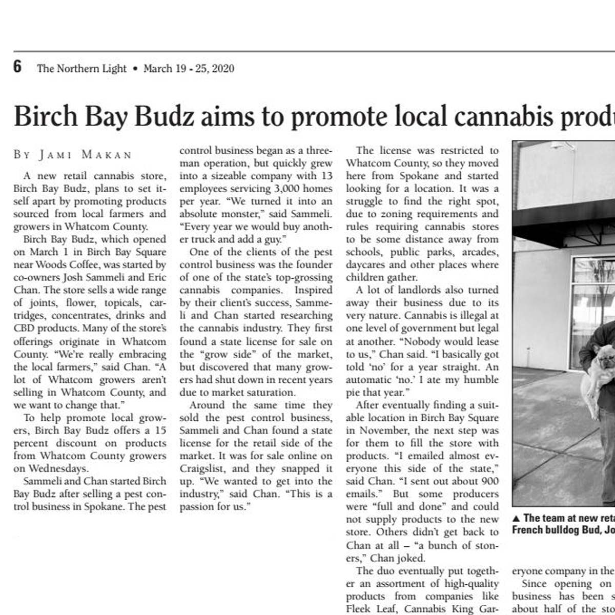 Birch Bay Budz aims to promote local cannabis producers - Northern Light Article