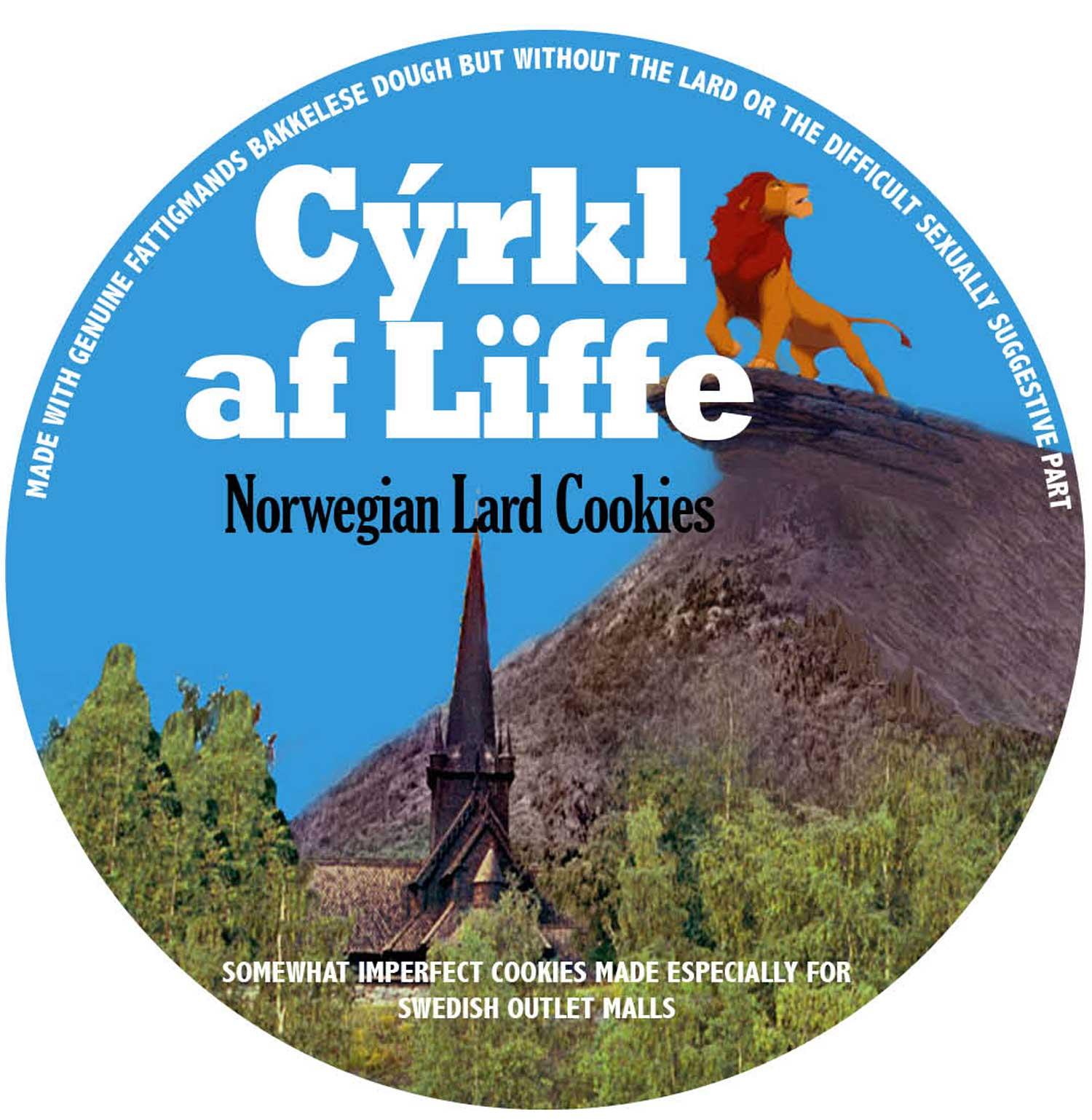Cyrkl af Liffe Norwegian Lard Cookies
