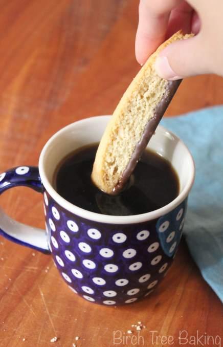 Chocolate Covered Vanilla Biscotti