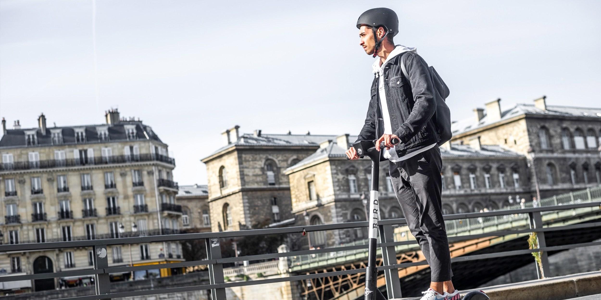 Man riding a Bird in Paris