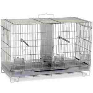 Breeder Cage Stackable Divided for Canaries Prevue F060 White 1 pc