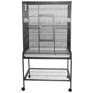 Indoor Aviary Bird Cage & Stand for Smaller Birds by AE 13221 Black