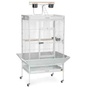 Play Top Bird Cage for Medium Parrots by Prevue 3153 Pewter
