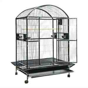 Dome Top Bird Cage for Large Parrots by AE 9004836 Platinum