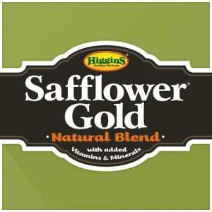 Higgins Safflower gold Bird food lable