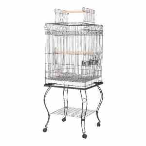 Flat Top Bird Cage for Smaller Parrots by AE 600H Platinum