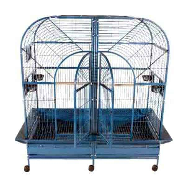 Divided Bird Cage for Large Parrots by AE 6432 Platinum