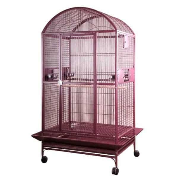 Dome Top Bird Cage for Large Parrots by AE 9004030 Burgundy
