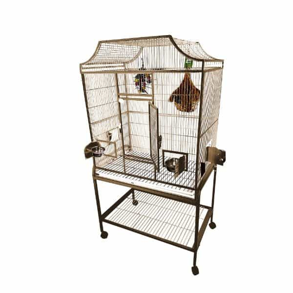 Elegant Top Flight Cage for Smaller Birds by AE MA3824FL Black