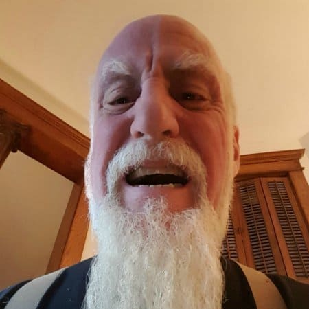 Angry mitch rezman with long white beard