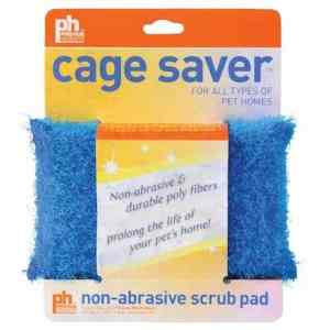 Scrubber Cage Saver Sponge Helps Clean Your Bird Cage Safely