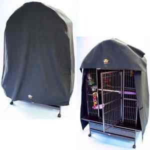 Cozzzy 46 Inch x 30 Inch Bird Cage Cover for Dome Top cages – 4630DT – Black