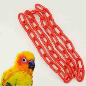 Plastic Chain Red 6 mm (1-1/4 Inch) Long 3 Feet (.91 M)