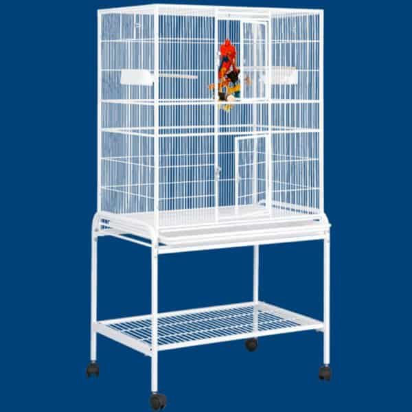 Indoor Aviary Bird Cage & Stand for Small Birds by HQ 13221 Black
