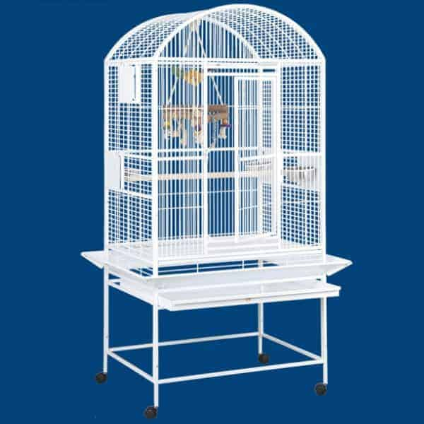 Dome Top Bird Cage for Medium Parrots by HQ 90032D Black